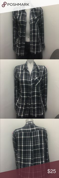 WOOLRICH FLANNEL This PERFECT woolrich flannel is black white and grey.  No FLAWS . LIKE NEW!!!!! 💓  Male Flannel, but also would look great on female :) bundles help you save !!!:) Bangladesh Woolrich Shirts Casual Button Down Shirts