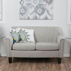 Christopher Knight Home Brookfield Two-Seat Fabric Sofa   Overstock.com Shopping - The Best Deals on Sofas & Loveseats