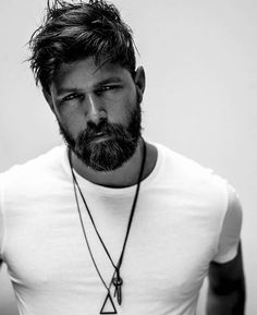 Stylish Bearded Boys and Cool Hairstyles - Men& Stilvolle Bärtige Jungs und Coole Frisuren – Herren Frisuren Stylish Bearded Boys and Cool Hairstyles, - Beard Styles For Men, Hair And Beard Styles, Hair Styles, Great Beards, Awesome Beards, Sexy Bart, Classic Hairstyles, Hairstyles Men, Medium Hairstyles