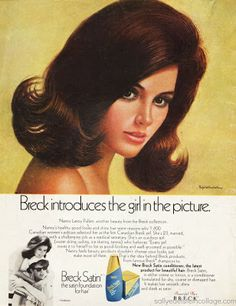 This summertime ad appeared in American Hairdresser a trade publication encouraging beauty shop owners to introduce Breck Hair treatments to their patrons. Description from retroarama.com. I searched for this on bing.com/images