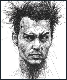 Drawing Inspiration – Popular Face Scribbles by Vince Low