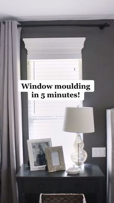Diy Molding, Window Moulding, Moldings, Home Decor Bedroom, Diy Home Decor, Master Bedroom, Window Treatments Living Room, Picture Window Treatments, Home Improvement Projects