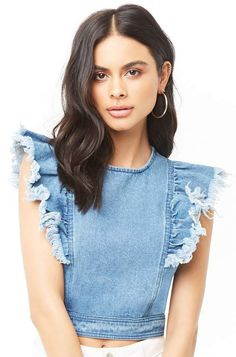 Forever 21 Frayed Denim Crop Top#petitewomensclothing#trendypetiteclothing#inexpensivepetiteclothes#designerpetiteclothing#fashionablepetiteclothing#petitedresses#outfitideasforwomen#outfits#trendy#trendyoutfitsforwomen#springoutfits#denim#denimondenim#denimoutfit#denimoutfitideas#denimoutfitideasforwomen#denimfemale#denimshirt#denimshirtdress#denimshirtoutfit#denimshirtoutfitspring#denimshirtoutfitwinter#ad