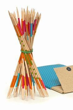 Idee fai da te :: Idee regalo natale fai da te, il gioco dello Shangai DIY christmas gift mikado