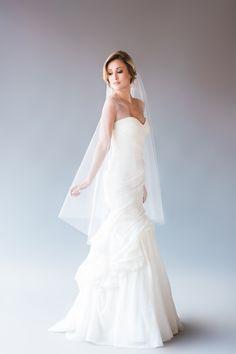 ISABELLE VEIL | single tier waltz length veil, fingertip length veil, wedding veil, bridal veil, ivory, white, diamond white, tulle by YuriCWeddingShoppe on Etsy https://www.etsy.com/listing/240640134/isabelle-veil-single-tier-waltz-length