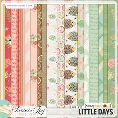 Digital Scrapbook Kit - Little Days | ForeverJoy Designs