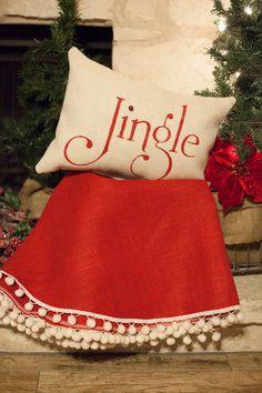 READY TO SHIP 60 Redburlap Christmas tree by TheBurlapCottage