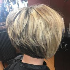 Layered Two-Tone Brown And Blonde Bob