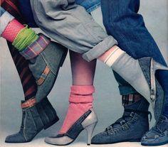 Sergio Valente Footwear, Seventeen magazine, August 1985.