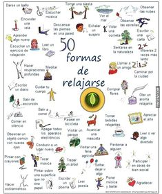 50 ways to relax. Stress out! Spanish Teacher, Spanish Classroom, Teaching Spanish, Ap Spanish, Spanish Lessons, Learn Spanish, Spanish Posters, Spanish Vocabulary, Emotional Intelligence