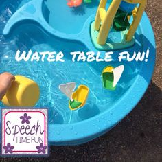 Speech Time Fun: Water Table Fun: great way to promote language and social skills!