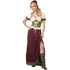 Renaissance Wench Costume ($39) ❤ liked on Polyvore featuring costumes, halloween costume, sexy mermaid costume, sexy mermaid halloween costume, sexy plus size costumes, plus size wench costume and plus size mermaid costume