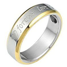 New fashion jewelry Inter gold Forever love titanium steel couple rings -one for men only