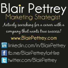 Hire Blair Pettrey for Digital, Web, Social Media, and Traditional Marketing