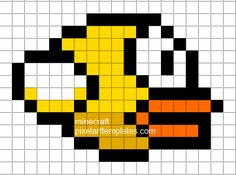 Minecraft Pixel Art Templates: Flappy Bird