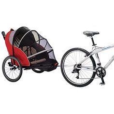 Schwinn combo jogging stroller and bike trailer. Jogging or biking, anyone? Jogging Stroller, Bike Cart, Bike Trailer, Seat Pads, Neue Trends, Baby Strollers, Car Seats, Dogs, Bebe