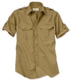 f67746c1c0ad Hemden, Herren Kurzarm-shirts, Safari-outfits, Popeline, Lässige Shirts Für