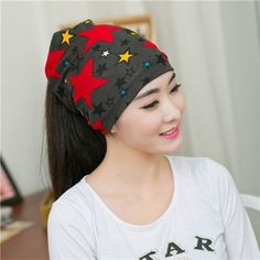 New Hot Women Korean Fashion Spring&Autumn Lady Hat Women Cool Bonnet Turban Trendy Casual Solid Unisex Star Skullies Beanies