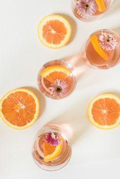 Elderflower and orange cocktail