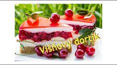 Višňový dortík / Helenčino pečení Cheesecake, Pudding, Treats, Sweet, Food, Youtube, Sweet Like Candy, Candy, Goodies