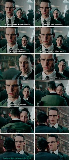 """Can't we just pretend that nothing happened?"" - Oswald and Ed #Gotham"