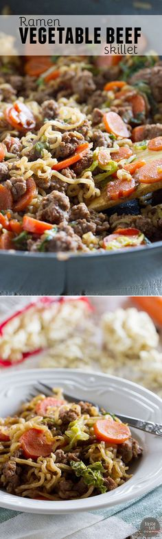 Take ramen to a new level with this easy, family friendly Ramen Vegetable Beef…