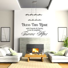 Bless this home with friends & family, love and laughter... Forever after #quotes http://blog.huisjetuintjeboompje.be/28-februari-2015/