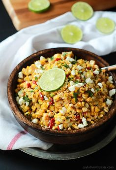 Grilled Chili Lime Sweet Corn Salad by Joyful Healthy Eats