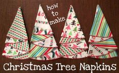 Picking Daisies Modern Fabric and Table Linens: Christmas Tree Napkin Tutorial