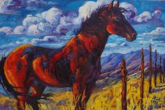 Borders and the Blood-Red Bay by Sonja Caywood Oil ~ 24 x 36