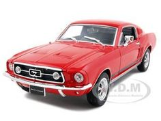 diecastmodelswholesale - 1967 Ford Mustang GT Red 1/24 Diecast Model Car by Welly, $14.49 (http://www.diecastmodelswholesale.com/1967-ford-mustang-gt-red-1-24-diecast-model-car-by-welly/)