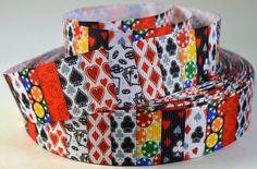 1 Poker Card Game Grosgrain Ribbon