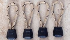 Paracord Zipper Pulls with Plastic Pull Tab (Tie On Type) Desert Camo