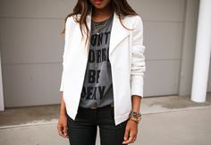 "Where can I buy this t-shirt @aimeesong? ""Don't Worry Be Sexy"" #SongofStyle thx @Lauren B!!"