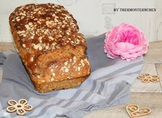 Fitness-Vollkornbrot - Thermomix® - Rezept von Thermosternchen Banana Bread, Stoneware, French Toast, Low Carb, Breakfast, Desserts, Food, Super, Youtube