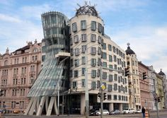 Architecture focus: Frank Gehry. Modern Architecture in Prague. This building is called The Dancing House or Fred and Ginger and it was completed in 1996. Designed by architect Vlado Milunic in co-operation with Frank Gehry. (Federica Grassi/Getty Images)