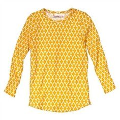 Fave T-shirt - Jali Ikat Yellow
