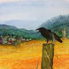 Raven and the Village 2 Archival Giclee Print от CarolynDoeDesigns