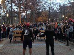 Lehigh-Lafayette Week's Bed Races event raises spirt despite being cut short