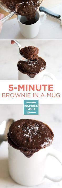 Easy Microwave Brownie In A Mug Dessert RecipesDesserts