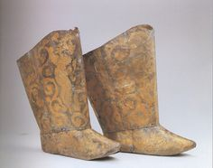 Pair of boots  Liao dynasty, 1018 or earlier  From the tomb of the Princess of Chen and Xiao Shaoju  Research Institute of Cultural Relics and Archaeology of Inner Mongolia