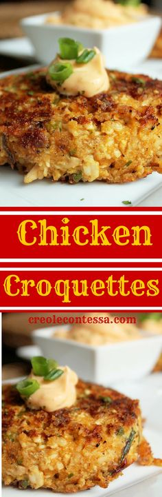 Chicken Croquettes with Spicy Sriracha Mayo-Creole Contessa