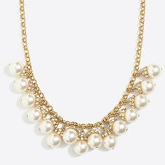 J.Crew+Factory+-+Pearl+accent+necklace
