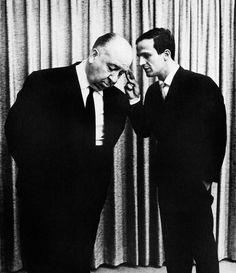 Alfred Hitchcock & François Truffaut photographed by Philippe Halsman, 1962.