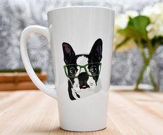 Boston Terrier Latte Coffee Mug