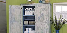 create a aged look by distressing your furniture.