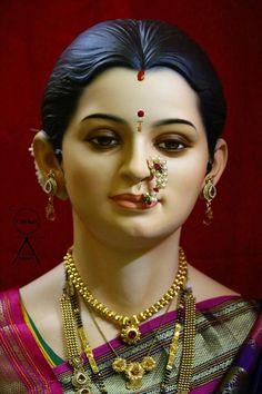 Maa Saraswati Devi, Durga Ji, Shiva Shakti, Bal Krishna, Krishna Art, Ganesh Chaturthi Images, Ganesh Images, Sculpture Head, Radha Krishna Wallpaper