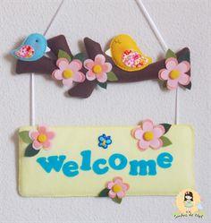 Sonhos de Mel 'ੴ - Crafts em feltro e tecido: °°Enfeite de porta em feltro...