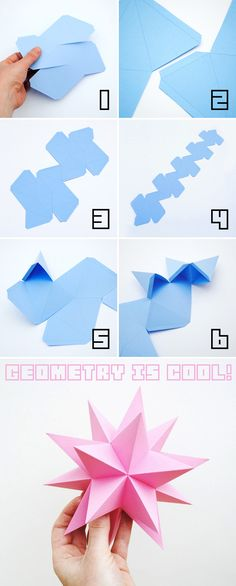 Origami Stellated dodecahedrons diy craft crafts diy crafts party crafts paper crafts party decorations origami origami crafts