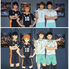why does the play version of kageyama look like Tao from the original EXO? Kagehina, Iwaoi, Kenma, Kuroo, Haikyuu Cosplay, Haikyuu Fanart, Haikyuu Volleyball, Volleyball Anime, Haikyuu Karasuno